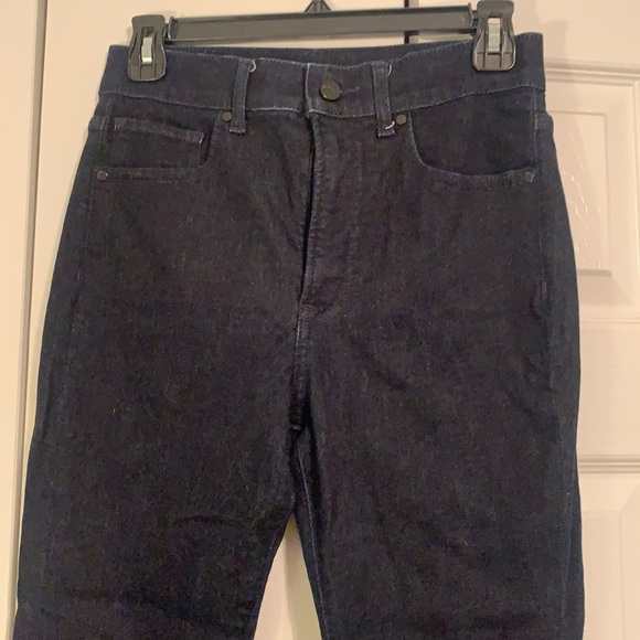 LIKE NEW! Dark wash Express Jeans skinny HIGH rise